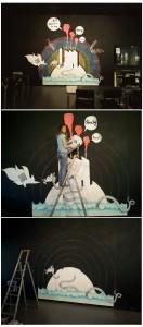 montage fresque Misst1guett @ jardin moderne