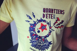 t-shirt quartiers d'été 2012