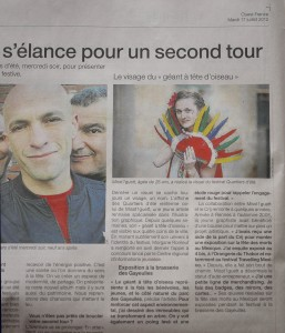 article ouest france miss q été2012