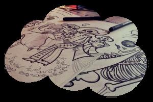 Skeletons b&w