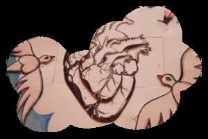Cloudy Home – Heart & birds