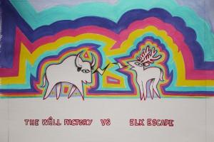 dessin bison-wapiti
