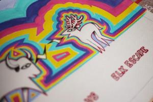 dessin bison-wapiti-détail