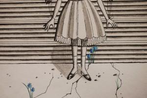 nina à la frontière- pieds