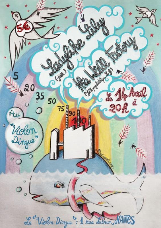 affiches concert au Violon Dingue