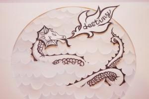 Cloudy Home - white dragon