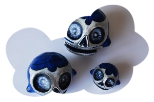 « Blue Demon trio  » skulls