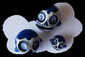 «Blue Demon trio » skulls