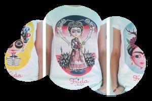 Tee-Shirt Femme «Frida aux bois» (taille S)