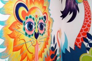 lion et cocotier