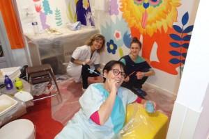 Magalie, Florence et moi-fresque alain bouchart