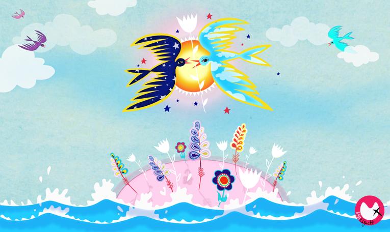 Misst1guett-oiseaux de nuit et de jour-ile aux fleurs-mini