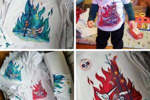 """""""Louploup"""" imprimés sur t-shirts 100% coton Bio. (voir dans le menu """"Merchandising"""")"""