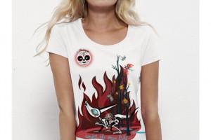 Impression numérique sur T-shirt femme 100% coton bio.