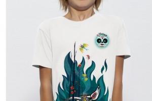 Impression numérique sur T-shirt enfant 100% coton bio.