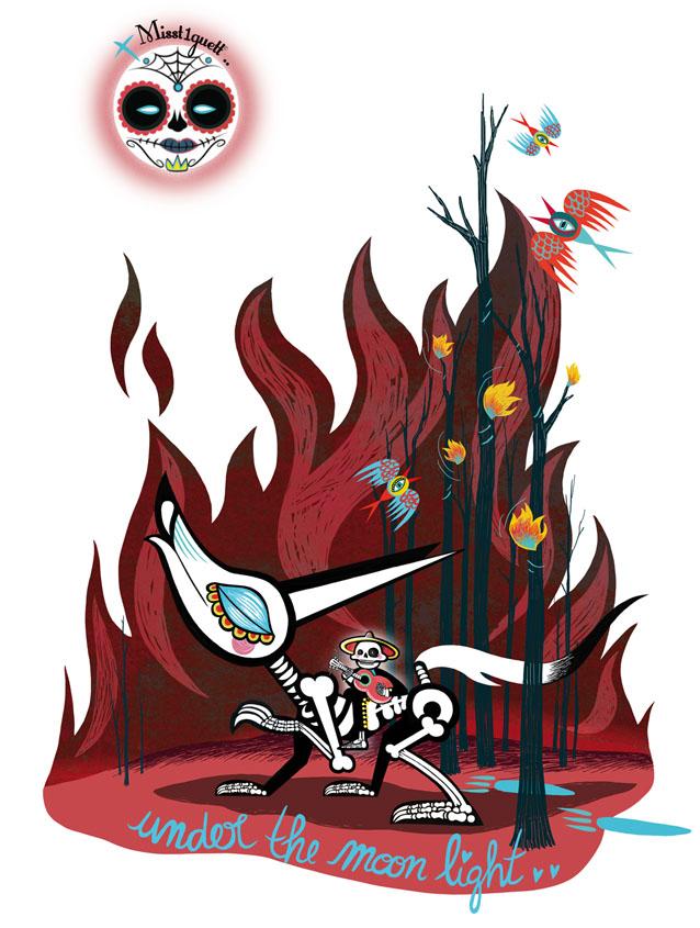 visuel-loup loup rouge et mariachi+lune décalée-Misst1guett-tshirt-2site miss