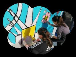 Atelier fresque Centre de loisirs – Crevin