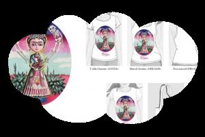 Tee-shirt Femme «Frida au faon» (taille S)